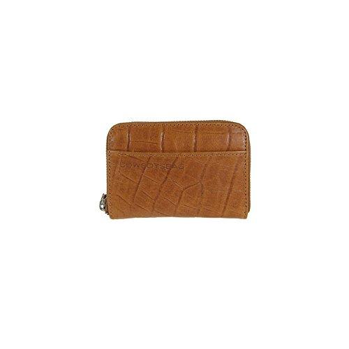 Portafoglio Cowboysbag Amsterdam Codo con portafoglio stampa coccodrillo marrone tabacco