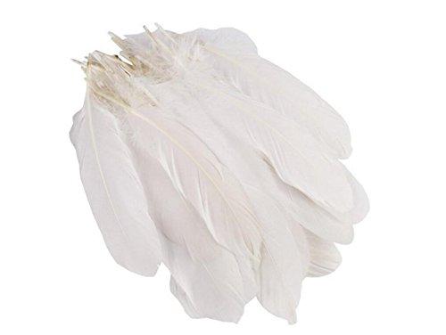 (100weiß 15–22cm//5.9inch-8.5inch Geburtstag Party Dekoration Gans Federn für DIY Hochzeit Festival Decor Nähen Crafts Costumes)