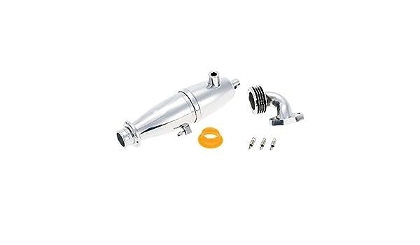 02124 RC HSP 102009 Aluminum Exhaust Pipe For 1//10 Nitro Car Upgrade Parts