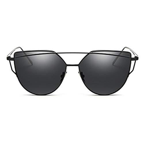 YUHANGH Cat Eye Vintage Rose Gold Spiegel Sonnenbrille Für Frauen Metall Reflektierende Flache Linse Sonnenbrille Weiblich