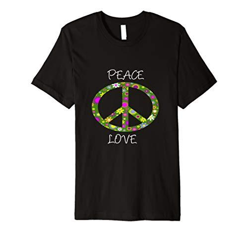 Peace Love Flower 60er 70er Jahre Hippie-Kostüm ()