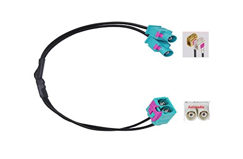 M.I.C.® SKAA-51B:KFZ Auto Radio Antenne Adapter 2 x Fakra Stecker - Doppel Fakra Buchse - Doppel-antennen-adapter