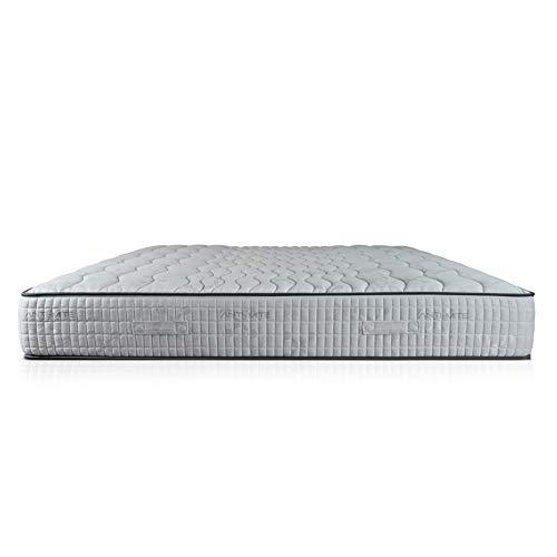 Seven materasso h25 con 7 cm di memory densità 55 kg/m3 + airpur® con tessuto anti acaro di alta qualità, sfoderabile lato estivo e lato invernale, singolo 95x195