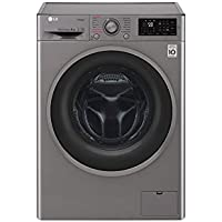 LG F4J6TY8S Independiente Carga frontal 8kg 1400RPM A+++-30% Negro, Acero inoxidable -