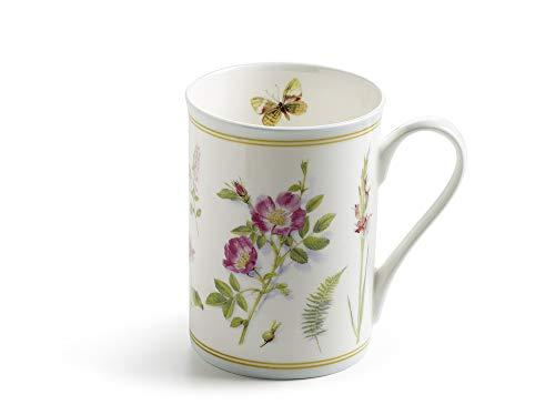 Maxwell & Williams S303003 Butterfly Garden Becher, Kaffeebecher, Tasse, 350 ml, in Geschenkbox, Porzellan, mint - Butterfly Garden Teller