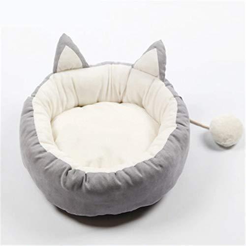 QDZSQFF Cane Che Dorme Nido Lettiera per Gatti Morbida Casa per Animali Carino Cuccia Rotonda Cuccia per Pelo Invernale Calda Cuccia per Gatti Rimovibile E Lavabile XL