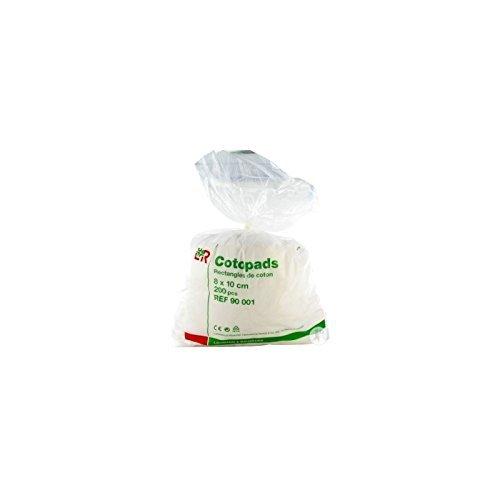 Cotopads pièce de coton 8x10cm /200 : carton de 16 sachets de 200