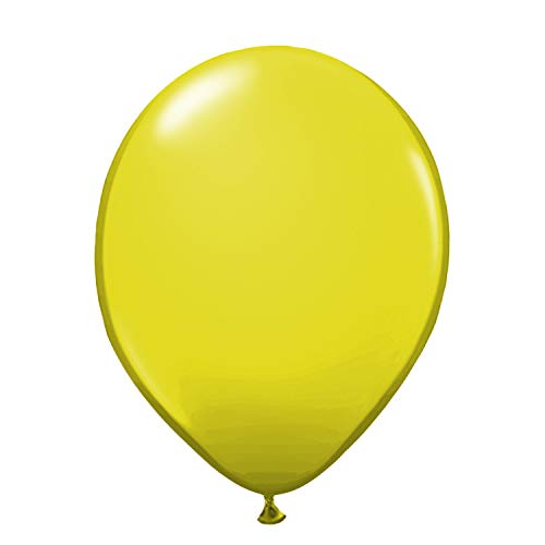 Luftballons Ø 30 cm - Rosa Pink Lila Weiß 17 weitere Farben - 10, 25, 50 und 100 er Set! - Deko für den Geburstag Hochzeit Taufe Party JGA - Helium/Gas geeignet Konfetti - Gelb