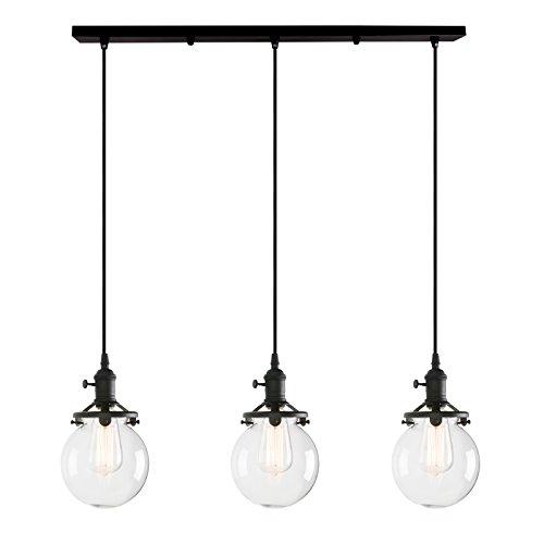 Pathson Retro - Lámpara de Techo Colgante de Cristal con diseño de...