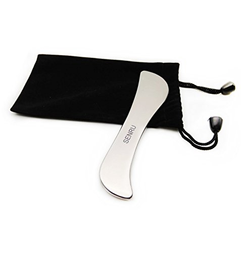 Medical Grade IASTM /Graston Tools,Titanium Gua Sha Massage Tool by SENRU,Professional Physical Therapy Tool Reduce head, Neck and Muscle Pain