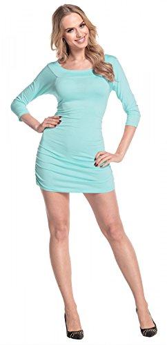 Glamour Empire Femme. Robe moulante fronces sur les côtés tunique top. 973 Menthe