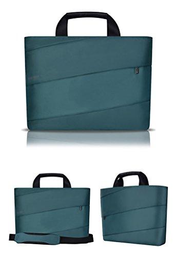YiJee Donne Tessuto Nylon Borsa A Tracolla Sleeve Case per Laptop Computer Portatile Macbook da 11.6/12/13.3 Pollici 15 Inch Buio Verde