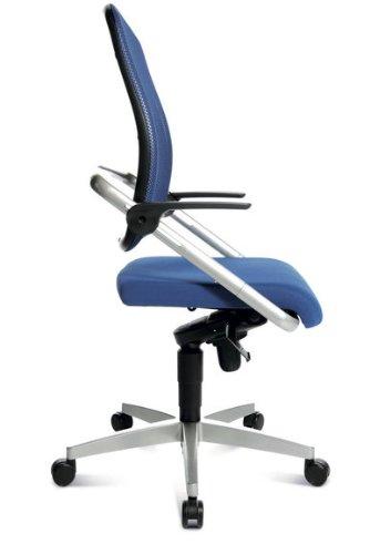 Topstar Bürodrehstuhl S Move op 10 blau – Doppelrollen-Set für Teppichböden - 3