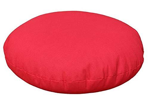 Yoga Reise-Meditationskissen mit Bio Buchweizen rund ca. 28cm - Yogakissen rot