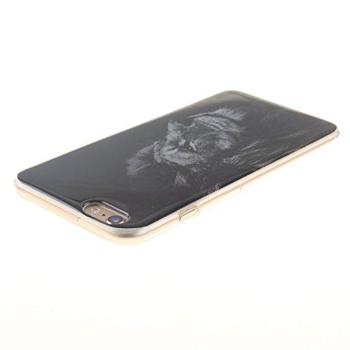 Voguecase® Pour Apple iPhone 6/6S 4.7, TPU Silicone Shell Housse Coque Étui Case Cover (tête de lion 01)+ Gratuit stylet l'écran aléatoire universelle tête de lion 01