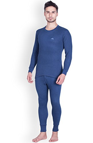 Lux Cottswool Men's Cotton Thermal Set (COTT_Blue_FS_RN_TRO_Set_85)