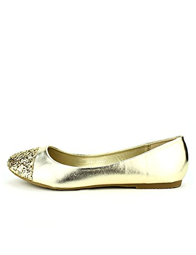 Cendriyon Ballerine Dorée Flaks Chaussures Femme Doré