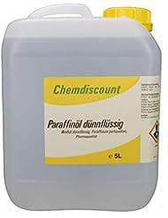 5Liter Paraffinöl dünnflüssig, entspricht Ph.Eur, medizinisch, versandkostenfrei! Paraffinum Perliquidum, Pharmaqualität