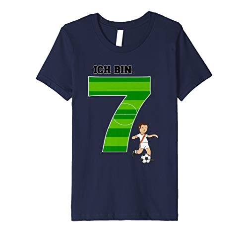 Kinder Geburtstagsshirt 7 Jahre Junge Fußball Ich bin 7 - Geburtstags-shirt 7.