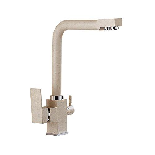 YSRBath Moderne Waschbecken Waschtischarmatur Antike Küche mattiert und kaltem Leitungswasser Wasseraufbereiter Mischbatterie Bad Küche Wasserhahn Badarmatur