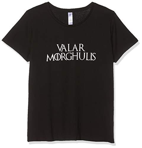 Texlab Got: Valar Morghulis - Damen T-Shirt, Größe XL, Schwarz (Storm Schwarz Kostüm)