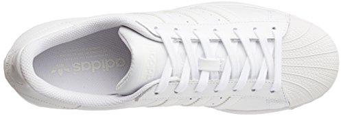 adidas Superstar Foundation, Unisex-Erwachsene Sneakers, Weiß (Ftwr White/Ftwr White/Ftwr White), EU 44 - 8