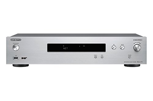 Onkyo NS-6170 Netzwerk-Audio-Player (37 Watt, Hi-Res Audio, WLAN, AirPlay, Musik Apps wie Spotify u.a., integrierte Chromecast-Technologie, FlareConnect) Silber