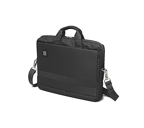 """Moleskine ID Collection Borsa a Tracolla Orizzontale Device Bag per Pc, Tablet, Notebook, Laptop e iPad fino a 15"""", Dimensioni 40 x 9.5 x 31 cm, Colore Nero"""