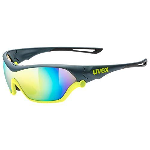 uvex Unisex- Erwachsene, sportstyle 705 Sportbrille, grey neon mat, one size