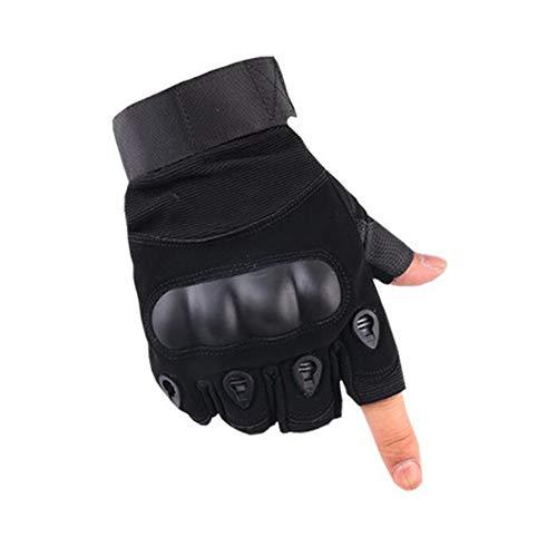 Hexiansheng Fitnesshandschuhe Sport Handschuhe Outdoor-Hälfte-Finger Taktische Handschuhe männliche Lady Reiten Sport Anti-Rutsch Fitness Super Faser militärische Handschuhe -