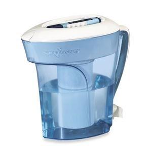 Zero Water MAIN-16842 Ready-Pour Wasserfilter-Krug mit gratis TDS Messgerät , 2.4 Litre, Blau -