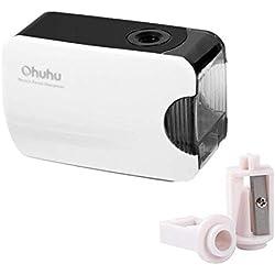 Ohuhu® sacapuntas/Pencil Sharpener eléctrico, automático, alimentado por batería, nuevo modelo.