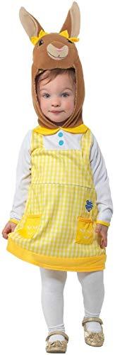 Fancy Me Offizielles Cottontail-Kostüm für Mädchen, Motiv Peter Rabbit, - Peter Hase Kostüm Kind
