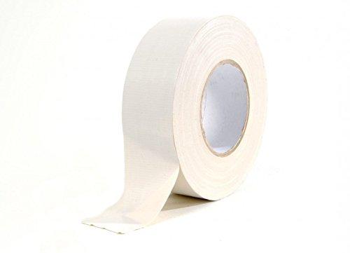 Gewebe-Klebeband weiß, glänzend 50mm x 50m
