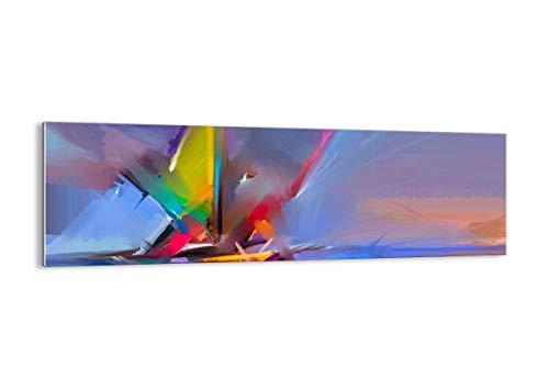 Arttor quadro su vetro - elemento unico - larghezza: 160cm, altezza: 50cm - numero dell'immagine 4030 - pronto da appendere - arte digitale - moderno - quadro in vetro - ga160x50-4030