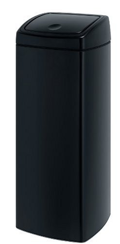 touch-bin-25-l-rechteckig-mit-kunststoffeinsatz-matt-black
