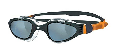 Zoggs Aqua Flex Schwimmbrille, Black/Orange/Smoke, One Size