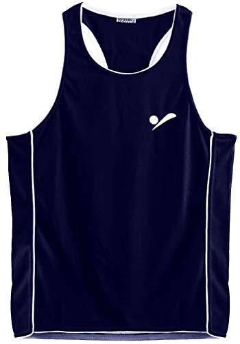 Beach Volleyball Apparel Kinder Beachvolleyball Shirt Trikot Sport Tank Top TT100 - Dunkelblau - S - 158-164