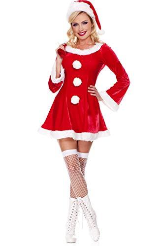 Fun-Unterwäsche Performance Kostüm Snow White Rock Weihnachten Halloween Kostüm Show Karneval Cosplay, Rot, Eine Größe