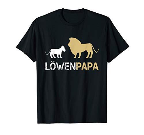 Löwenpapa Shirt für Papa und Kinder Löwe | Vatertag Geschenk T-Shirt (König Der Löwen T Shirt Kinder)