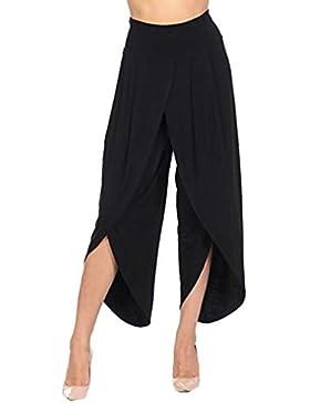 e051fba452c3 Elecenty Pantaloni larghi delle donne Pantaloni larghi a vita alta Pantaloni  ampi a gamba larga da
