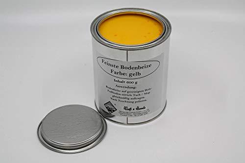Wasserrose® 600 g BODENBEIZE GELB BOHNERWACHS MIT Farbstoff Made IN Germany