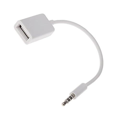 Gazechimp 3,5 Mm Stecker Aux Audiostecker-Buchse USB-2.0-Buchse Konverter Kabel Kabel
