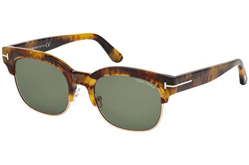 Tom Ford Männer FT0597 Harry Sonnenbrille w/Grüne Linse 55N TF597 Licht Havana groß