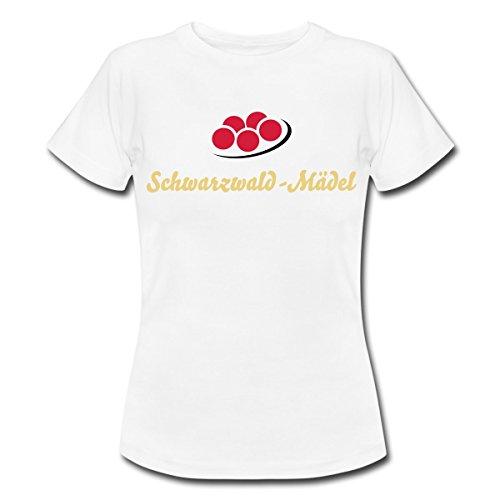 Schwarzwald Bollenhut Frauen T-Shirt von Spreadshirt®, S, Weiß (Schwarzwald Kostüm)