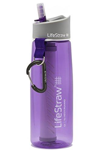 LifeStraw Go 2 Nachfüllbare Wasserflasche mit Eingebautem (2-Stufig) Violet Filter, Lila, M