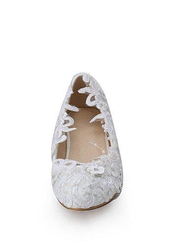 WSS 2016 Chaussures de mariage-Blanc-Mariage / Habillé / Soirée & Evénement-Compensées-Talons-Homme under 1in-us8 / eu39 / uk6 / cn39