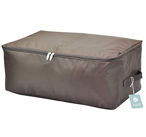 Übergroße, Kleidung Lagerplätze, Bettwäsche, Decken Organisator Lagerbehälter, Haus bewegen Tasche, waschbar und Feuchtigkeit geschützt (Kaffee, L) (Tasche Tröster Bettwäsche)
