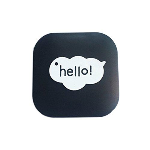 Nettes Karikatur-Muster-kreativer Kontaktlinsenbehälter Speicherhalter für das Objektiv-Sorgen, Hello! (6.1x6.1cm) (Kontaktlinsenbehälter Bulk)