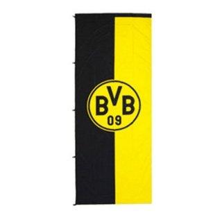 Borussia Dortmund BVB 34134400 Hissfahne 100x200cm im Hochformat Schwarz/gelb 100 x 200 x 1 cm